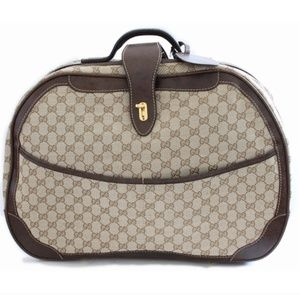 Gucci GG Logo Canvas Small Suitcase Carry On Bag